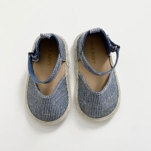 Old Navy Striped Mary Jane Espadrilles 6-12 M NWOT